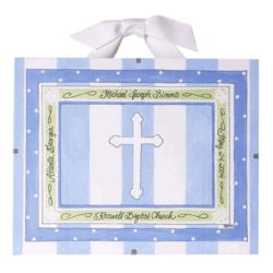 Personalized Blue Baptism / Christening Record
