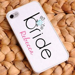 Personalized Bling Bride Cell Phone Case