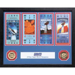 Framed Super Bowl Ticket Replica
