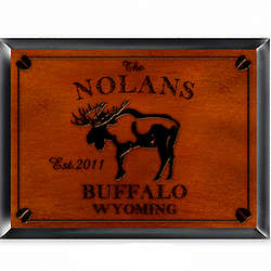 Personalized Moose Cabin Pub Sign