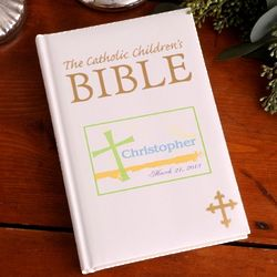 Personalized Pastel Grace Catholic Children's Bible