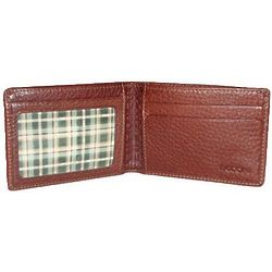 Tyler Tumbled Leather Slimster Mahogany Wallet
