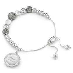 Personalized Quartz Pave Lariat Bracelet