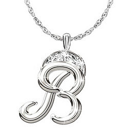 Diamond Signature Initial Pendant