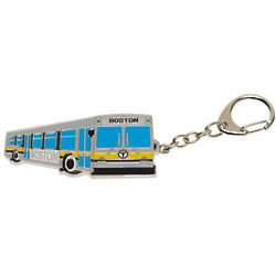 Boston Yellow Line Bus Key Chain