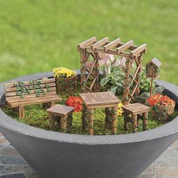 Ivy Fairy Garden Furniture Set