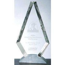 Crystal Royal Diamond Award with Base