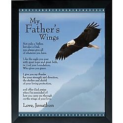 Father's Wings Personalized Framed Print