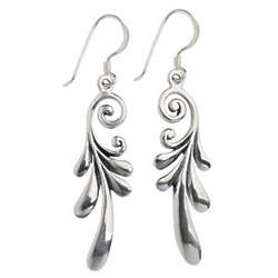 Curly Wing Earrings