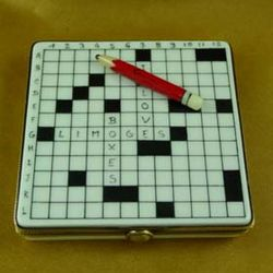 Crossword Puzzle Limoges Box