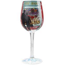 Kid At Heart Toy Shop Window Wine Glass