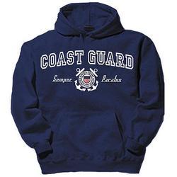 Coast Guard Shield Blue Hooded Sweatshirt