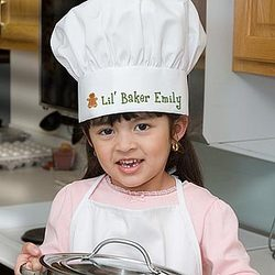 Lil' Christmas Baker Personalized Chef Hat