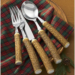 Faux Antler Flatware Set Findgift Com