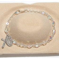 Children's Crystal Rosary Bracelet