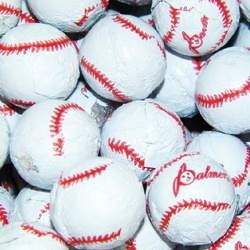 Baseball Chocolate Balls