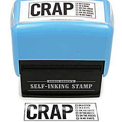 Crap Self-Inking Stamper