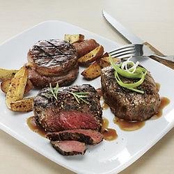 Sirloin Trio Bourbon-Style Peppercorn Sirloin Steaks