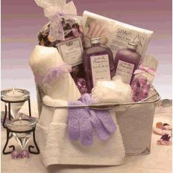 Lavender Bath and Body Spa Caddy