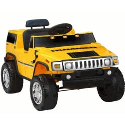 Battery Powered Yellow Hummer Ride On Car