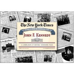 New York Times The Life and Times of JFK Compilation Newspapers