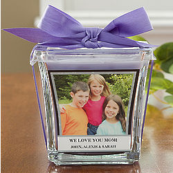 Photo Personalized Glass Candle