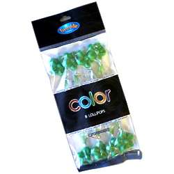 Twinkle Candy Green Flower Lollipops