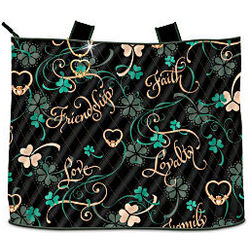 Irish Charm Tote Bag with Cosmetic Case