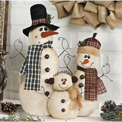Soft Snow Family Decor