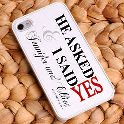 Personalized He Asked Red iPhone Case