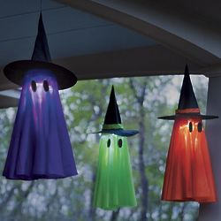 Light-Up Ghostly Witch Decoration
