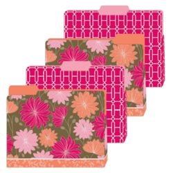 Floral Gusseted File Folders