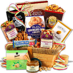 Overnight Snacks and Treats Gift Basket