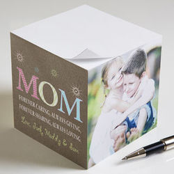 Personalized 3-Photo Notepad Cube for Mom