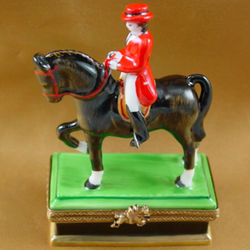 Horse with Rider Dressage Limoges Box