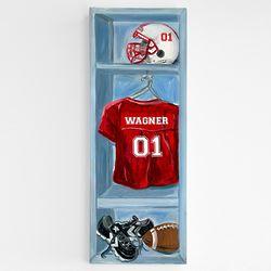 Personalized Football Locker Room Canvas Art Print