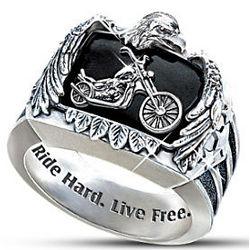 Ride Hard, Live Free Biker Ring