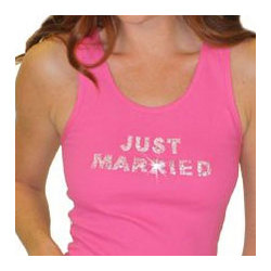 Just Married Crystal Tank