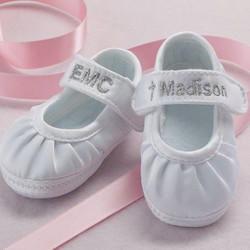 Personalized Christening Shoes for Girls