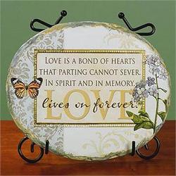 """Love Lives on Forever"" Memory Plaque with Easel"