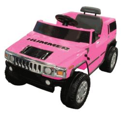 Battery Powered Hummer Ride On in Pink