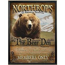 Personalized Framed Bear Den Canvas