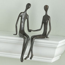 Seated Couple Statue