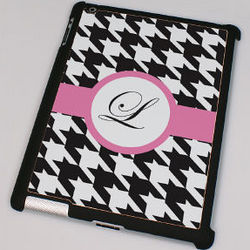 Personalized Houndstooth Design iPad 2 Case