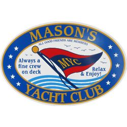 Personalized Yacht Club Wall Sign