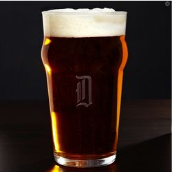 Personalized English Pub Glass