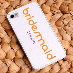 Personalized Orange Crush Bridesmaid iPhone Case