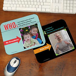 Who Loves You Personalized Photo Mouse Pad