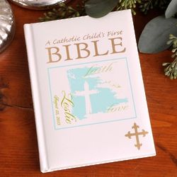 Personalized Faith and Love Catholic Child's First Bible