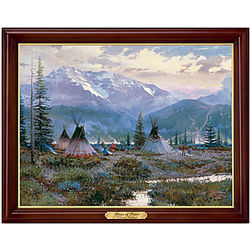 Thomas Kinkade Days of Peace Framed Canvas Print